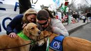 Money, personnel and supplies have poured into Oklahoma from across the country after Monday's devastating tornado, but one Chicago-area church is sending a different kind of assistance — a team of golden retrievers.