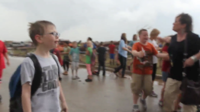 Oklahoma tornado: Students at Briarwood Elementary after tornado