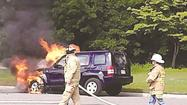 YORK — Firefighters averted a potentially dangerous situation Monday when a car caught fire near a gas station on Richmond Road in upper York County.