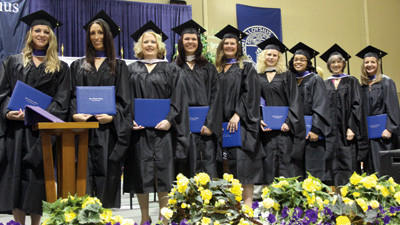 Mount Aloysius first nine graduates of the Master of Science in community counseling program.