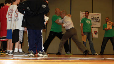 Kids witness martial arts anti-bullying program
