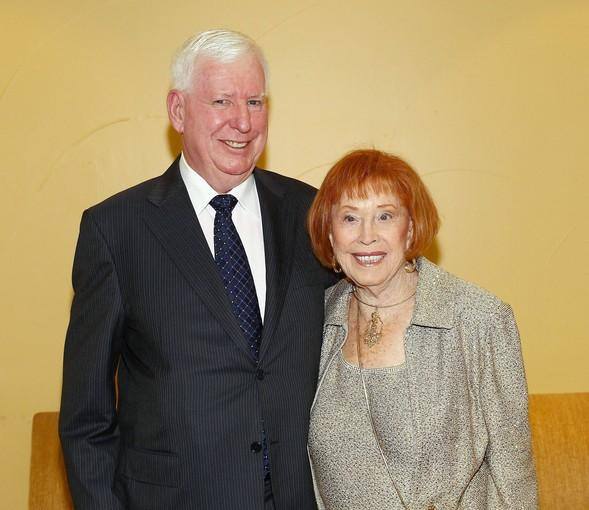 Tom Sparks stands with his mother, Jane, who was honored during the Alzeimer's Family Service Center's gala.