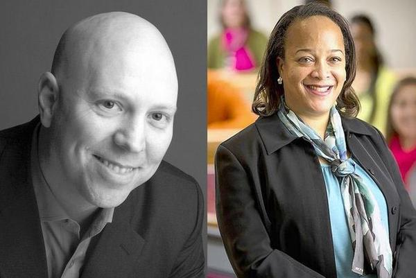 Mark Slaby and Dr. Bridget Terry Long are Naperville North High School's latest Learners to Leaders Award winners.