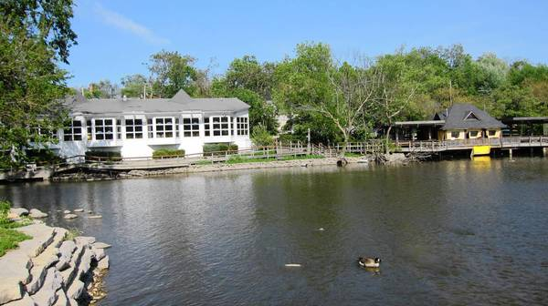 The old Mill Race Inn and its gazebo, in poor condition, according to officials. The property remains for sale, but a deal could be coming soon.