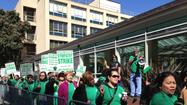 SAN FRANCISCO -- A strike by patient-care workers concerned about pension changes and staffing levels has led to the cancellation of an expected 150 surgeries at UC San Francisco Medical Center over the two-day labor action and will affect at least another 200 patients, hospital officials said Tuesday.