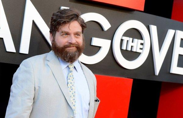 "Zach Galifianakis arrives at the premiere of ""The Hangover Part III"" in Westwood."