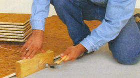 Lay a basement subfloor