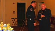 The Naperville Police Department held their annual CAPS Awards on May 16 to honor safety personnel for their contributions to the City of Naperville. Several awards were given out during the ceremony including the George Pradel Award, which was awarded to Officer James Sakelakos.