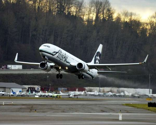 Alaska Airlines was rated the top full-service airline in a Harris survey.