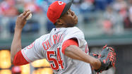 Cincinnati Reds closer Aroldis Chapman had better lay off the pastries, according to a broadcaster who claims they may have been the cause of Chapman's blown save Sunday.