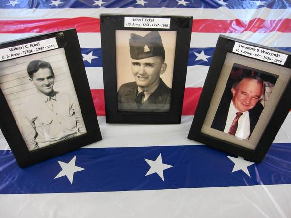 Three veterans from the Eckel family will be among the 10 veterans honored at this year's Memorial Day ceremony in Orland Park.