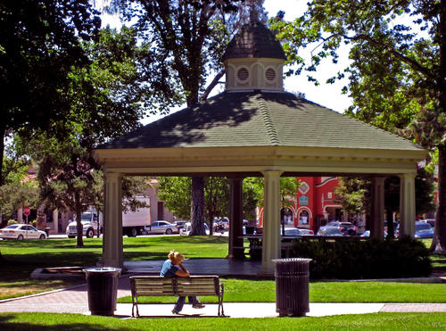 Paso Robles' town square is a trip back in time, with shops and restaurants surrounding the downtown spot.