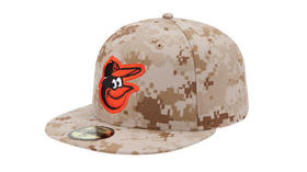 Orioles will wear camouflage caps with bird logo for Memorial Day
