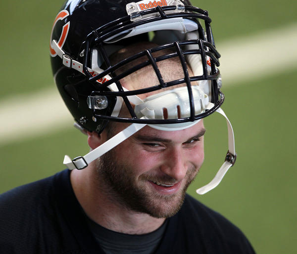 First-round draft pick Kyle Long at the first day of Bears' rookie minicamp.