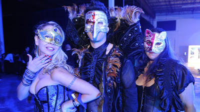 Masquerade ball in Miami