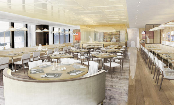 A rendering of the main dining room at Travelle