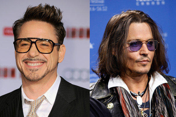 Robert Downey Jr. and Johnny Depp.