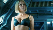 "It's one of the strangest scenes in ""Star Trek Into Darkness"": With no explanation or motivation, USS Enterprise visitor Carol (Alice Eve) strips down to her blue underwear, whereupon James T. Kirk (Chris Pine) sneaks a peek."
