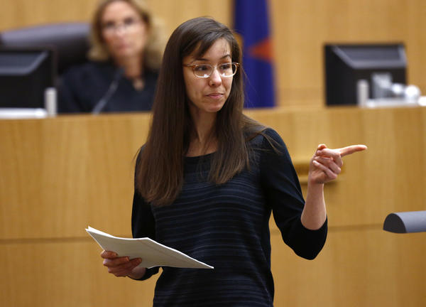 Jodi Arias points to her family as a reason for the jury to give her a life sentence instead of the death penalty during the penalty phase of her murder trial at M