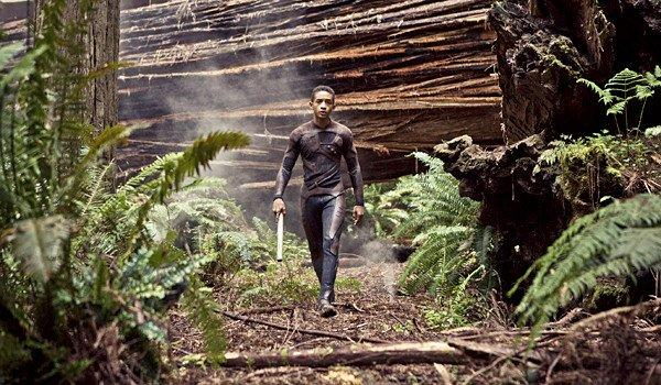 "Jaden Smith walks in a redwood grove in Humboldt Redwoods State Park, where part of the Columbia Pictures movie ""After Earth"" was filmed last year."