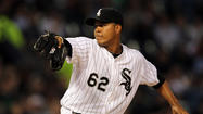 Chicago White Sox left-hander Jose Quintana hasn't allowed a hit through the first five innings.