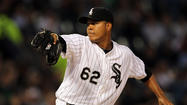 Chicago White Sox left-hander Jose Quintana pitched 6 1/3 no-hit innings before David Ortiz hit a broken bat single into shallow center field.