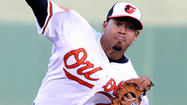 To clear a roster spot for right-hander Miguel Gonzalez's return from the disabled list Tuesday, the Orioles optioned right-hander Jair Jurrjens to Triple-A Norfolk after just one start with the big league club.