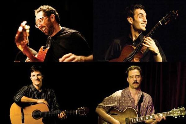 The Seasons Quartet, clockwise from left: Anthony Wilson, Julian Lage, Larry Koonse and Chico Pinheiro.