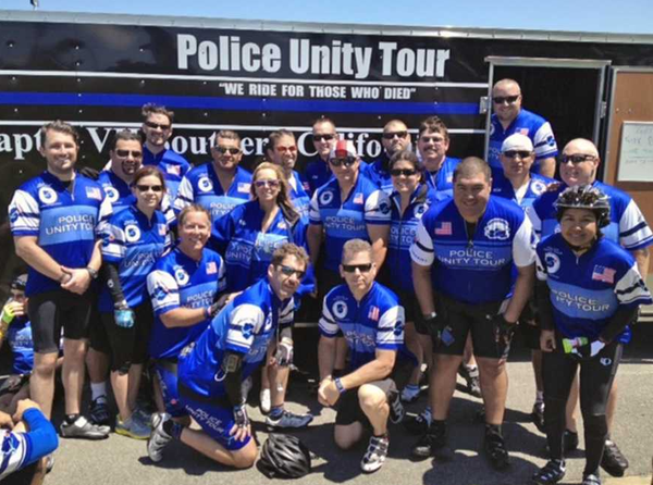 Nearly 20 Burbank police officers participated in this year's Police Unity Tour to commemorate the 10-year anniversary of fallen officer Matthew Pavelka's death.