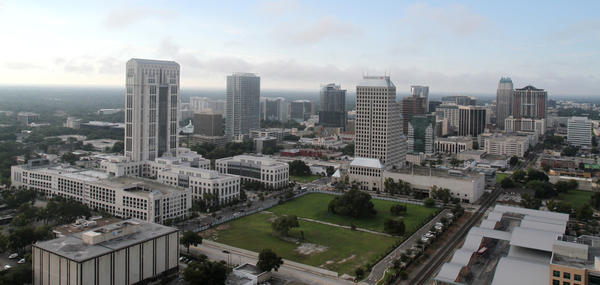 The downtown Orlando skyline seen in 2010.