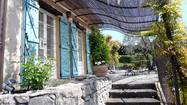 The front of Julia Child's former home, now a cooking school run by Chef Kathie Alex, in Provence.