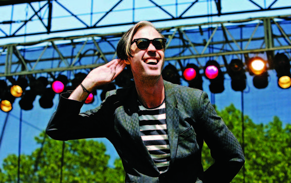 Michael Fitzpatrick of Fitz and the Tantrums performs at the Great Googa Mooga 2012 at Prospect Park on May 20, 2012 in the Brooklyn borough of New York City. (Photo by Mike Lawrie/Getty Images)
