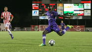 Dom Dwyer and Adama Mbengue each scored unassisted goals to lead the visiting Orlando City Lions to a 2-1 victory over the Ocala Stampede in front of announced crowd of 1,030 Tuesday night at Ocala Stadium at Ocala Forest High School.