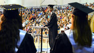 Martinsburg High School graduates, their families and faculty were forced to evacuate the Butcher Center at Shepherd University Tuesday night when the second of two fire alarms went off moments before the commencement ceremony was to begin.