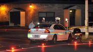 A woman was killed Tuesday night in Allentown when she walked across Airport Road with her son and was hit by a sport utility vehicle, according to witnesses and police radio reports.