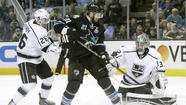 Sharks jump Kings, 2-1, to even playoff series