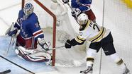 NEW YORK (Reuters) - The Boston Bruins scored twice in the final period to beat the New York Rangers 2-1 at Madison Square Garden on Tuesday and grab a commanding 3-0 lead in their National Hockey League (NHL) playoff.