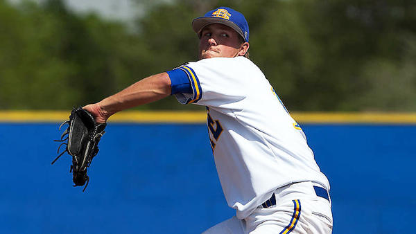 Senior right-handed pitcher Layne Somsen had a 1.91 ERA for South Dakota State during the regular season.