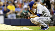 Dodgers misfire in Milwaukee as Brewers win, 5-2