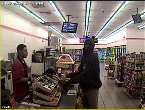 An image from a surveillance camera captured Trayvon Martin before his encounter with George Zimmerman.