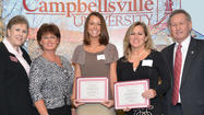 Three Jessamine County educators received Excellence in Teaching awards from Campbellsville University on Saturday at the school's campus.