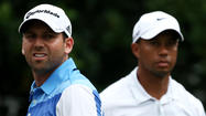 "LONDON -- Sergio Garcia apologized for a ""fried chicken"" jibe aimed at Tiger Woods during a European Tour awards dinner Tuesday, and Woods replied via Twitter on Wednesday that although the remark was ""wrong, hurtful and clearly inappropriate,"" it's time to ""talk about golf."""
