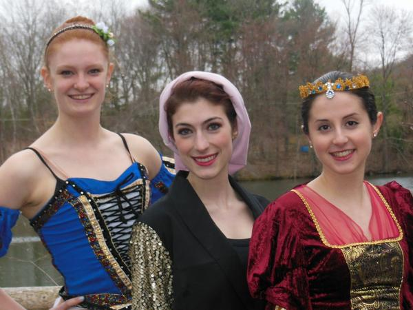 From left are Valley Ballet dancers Madeleine Hobbs, Melissa Dimmock and Rebecca Rothstein. They will perform leading roles in the school's performance of Snow White: Once Upon a TimeHappily Ever After on May 31 and June 1.