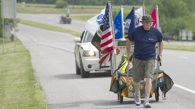 Marine on long walk for 'brothers' visits Boyle