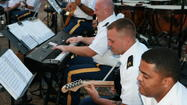 The U.S. Army TRADOC Band plays free concerts at Fort Eustis through the summer.