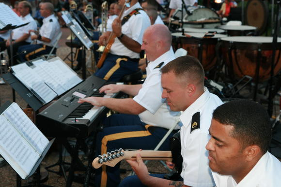 The U.S. Army TRADOC Band plays