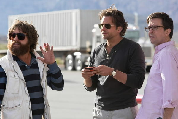 "Zach Galifianakis, Bradley Cooper and Ed Helms star in ""The Hangover Part III."""
