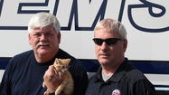 Saving lives may be part of a typical day for Boyle County EMS workers Benny Myers and James Gies, but May 11 proved to be anything but typical. While returning back to the station after an emergency call, Myers and Gies were shocked to see a small kitten seemingly tumble from the car ahead of them and roll onto the road in front of their ambulance.