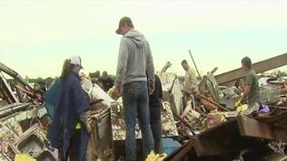 RAW: Oklahoma picks up after tornado