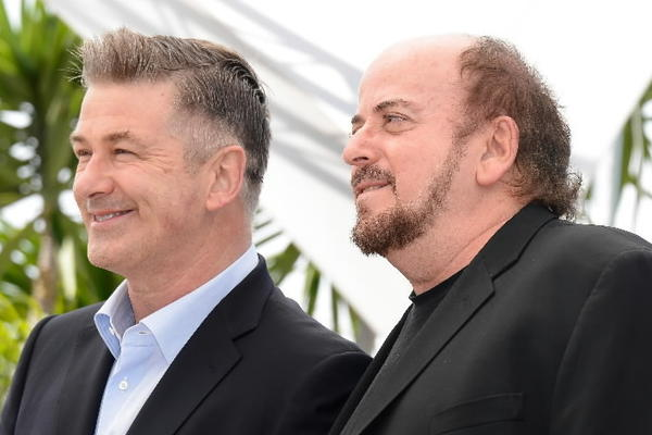 "Actor Alec Baldwin and director James Toback attend the ""Seduced And Abandoned"" photocall Tuesday at the Cannes Film Festival."